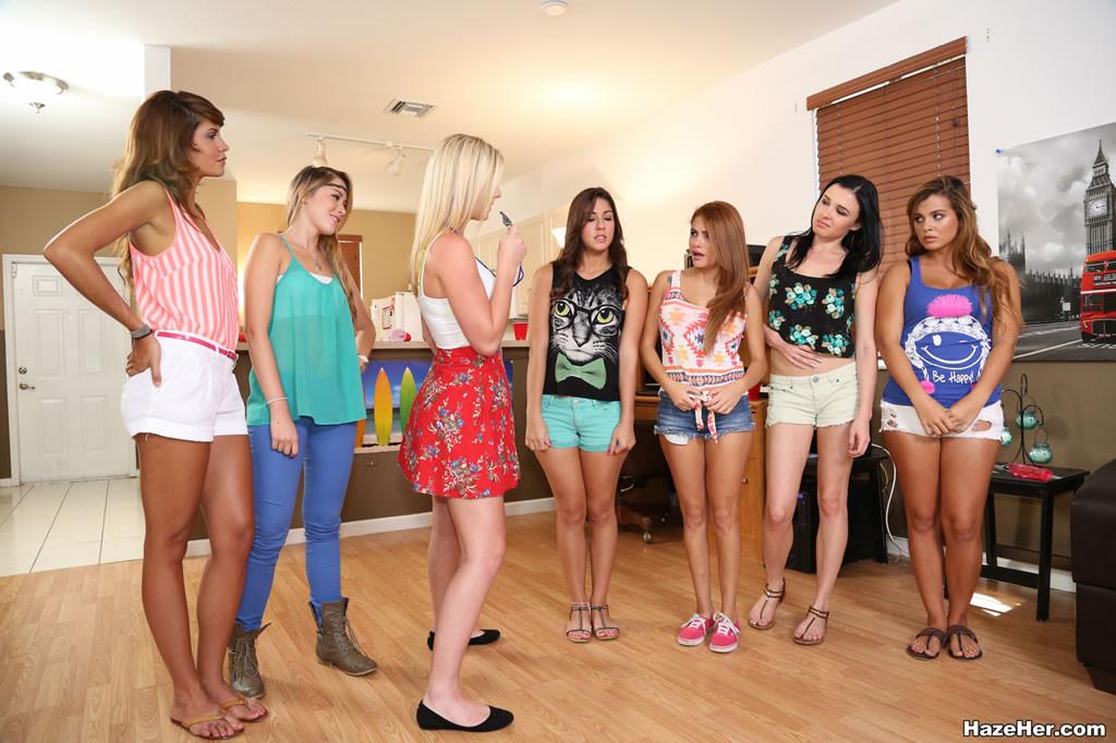 Lesbian sorority hazing a group of amateurs 4